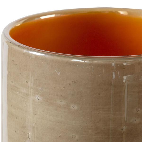 Tangelo Leight Beige and Orange Vase, Set of 2, image 2