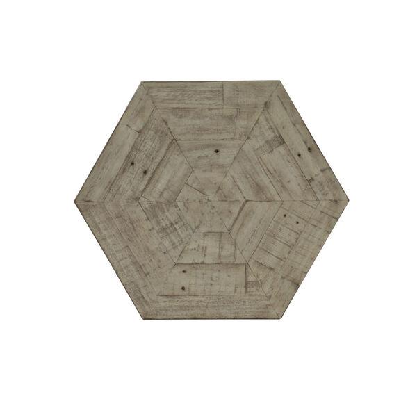 Glazed Silver and Brown Loft Gresham Hexagonal End Table, image 5