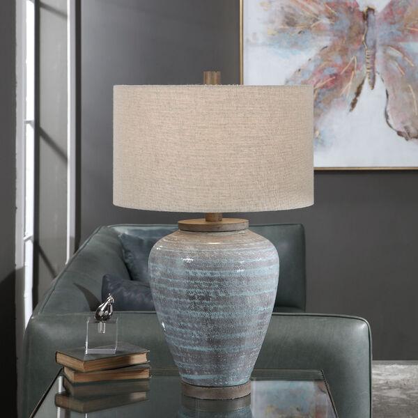 Pelia Aqua Blue Table Lamp, image 2