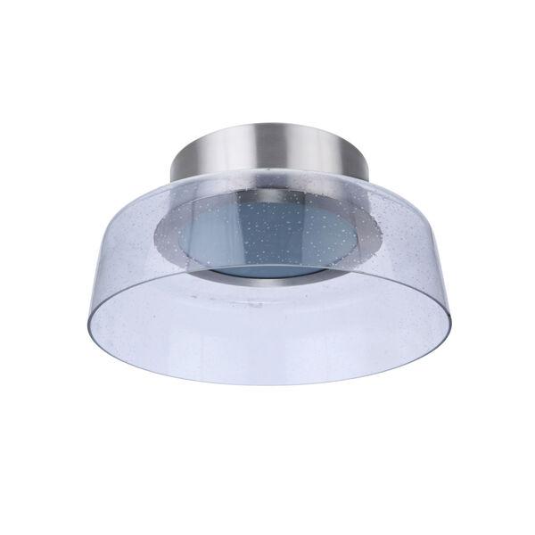 Centric Brushed Polished Nickel 11-Inch LED Flushmount, image 1