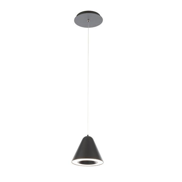 Kone Black LED Mini Pendant, image 1