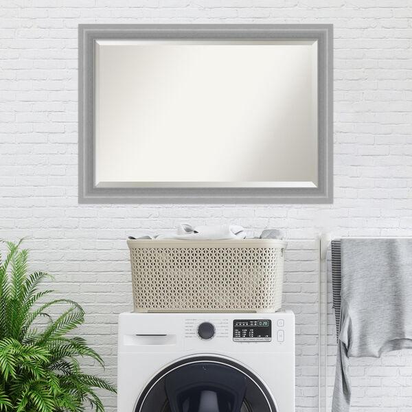 Peak Brushed Nickel 41W X 29H-Inch Bathroom Vanity Wall Mirror, image 6