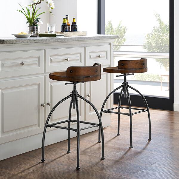 Edison Natural Adjustable Height Bar Stool, image 6