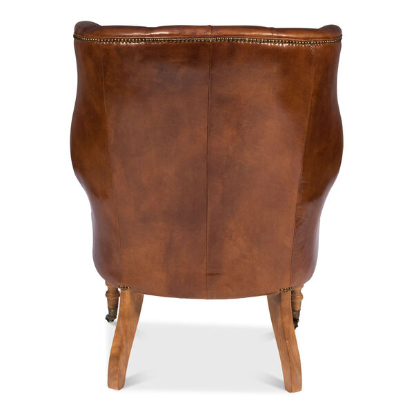 Brown Welsh Leather Chair, image 4