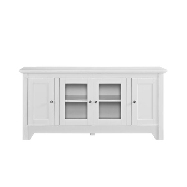 52-Inch Wood TV Media Stand Storage Console - White, image 4