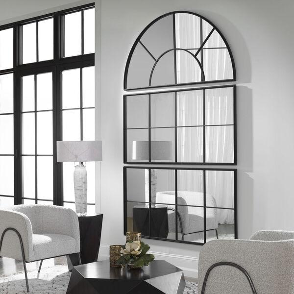 Rousseau Black Iron Window Mirror, image 3