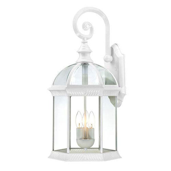 Webster White Three-Light Outdoor Wall Sconce, image 1