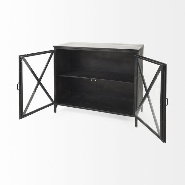 Poppy III Black Cabinet with Glass Door, image 6