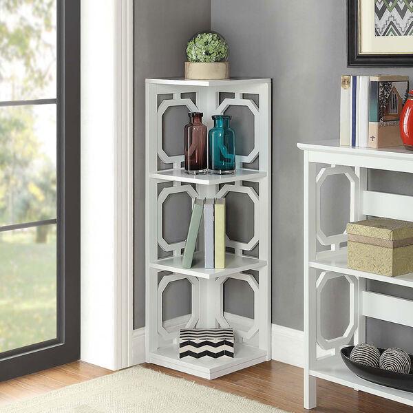 Omega 3 Tier Corner Bookcase, image 3