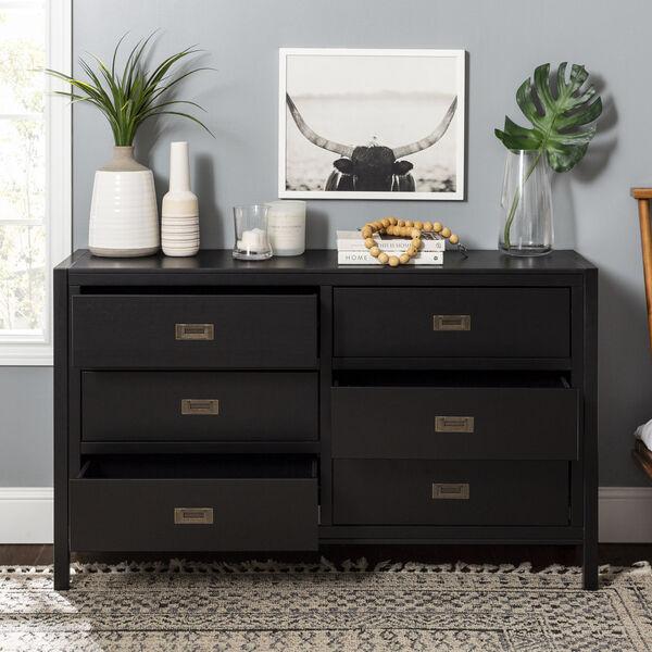 Lydia Black Dresser with Six Drawer, image 4