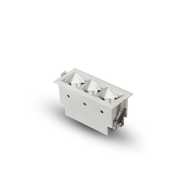 Rubik White Three-Light LED Recessed Downlight, image 4