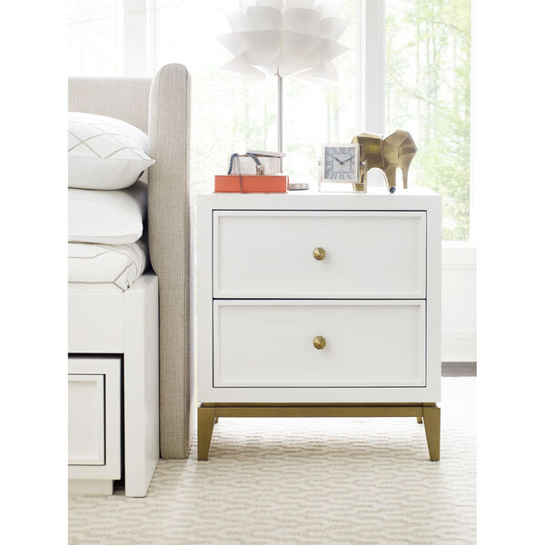 Chelsea by Rachael Ray White with Gold Accents Kids Nightstand, image 2