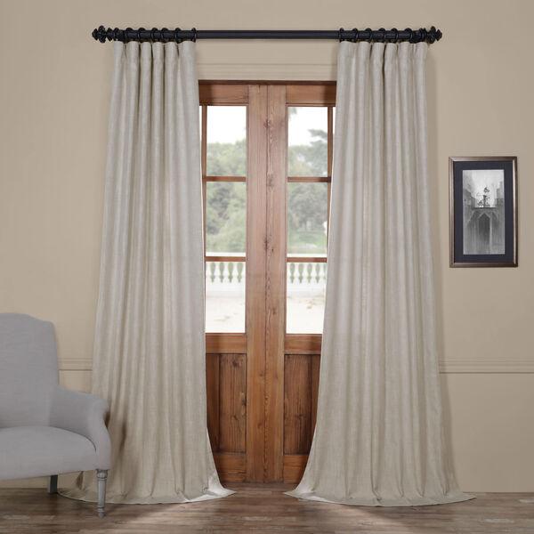 Ash Grey Heavy Faux Linen 96 x 50 In. Curtain Single Panel, image 1