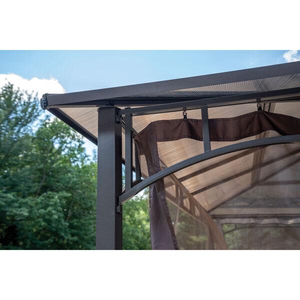 Dark Brown Brown Steel 10 x 12 Feet Polycarbonate Roof Gazebo, image 5