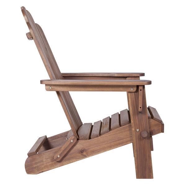 Acacia Adirondack Chair - Dark Brown, image 4