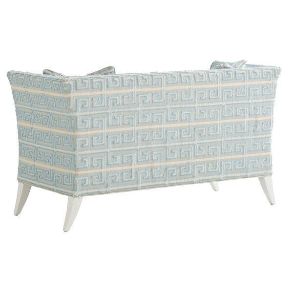 Avondale Blue and White Hampstead 60-Inch Settee, image 2