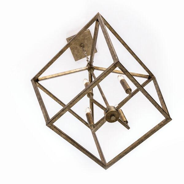 Kenwood Vintage Gold Four-Light Lantern Pendant, image 7