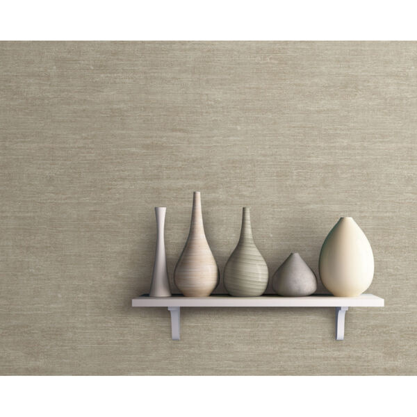 Antonina Vella Elegant Earth Beige Heathered Wool Textures Wallpaper, image 1