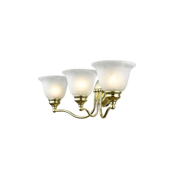 Essex Polished Brass 24-Inch Three-Light Bath Light, image 4