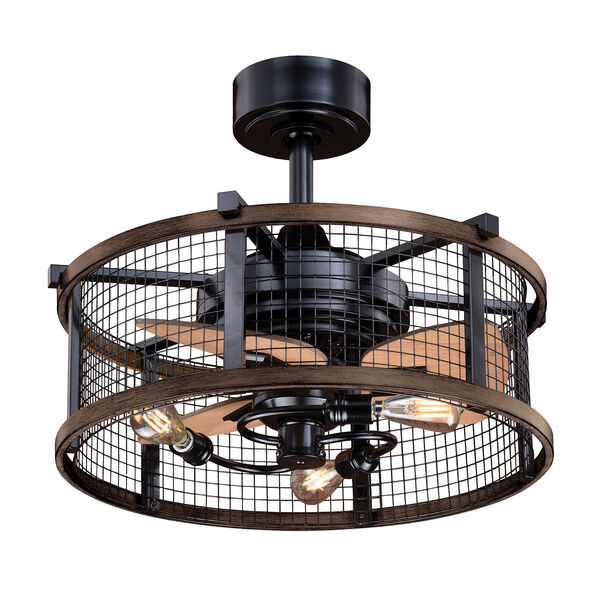 Humboldt Oil Rubbed Bronze and Burnished Teak 21-Inch Ceiling Fan With Light Kit, image 1