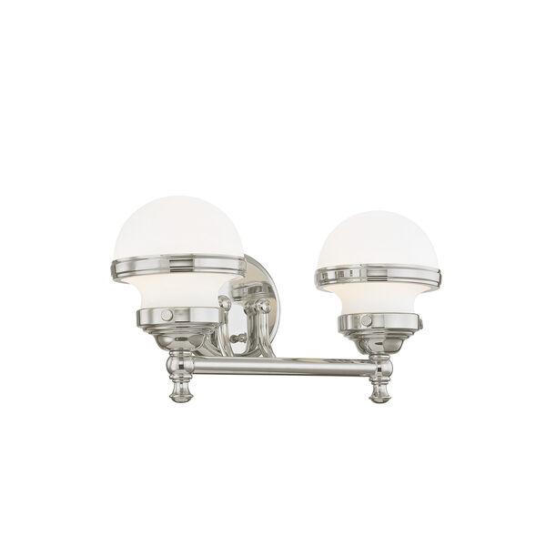 Oldwick Polished Chrome Two-Light 15-Inch Bath Vanity, image 3