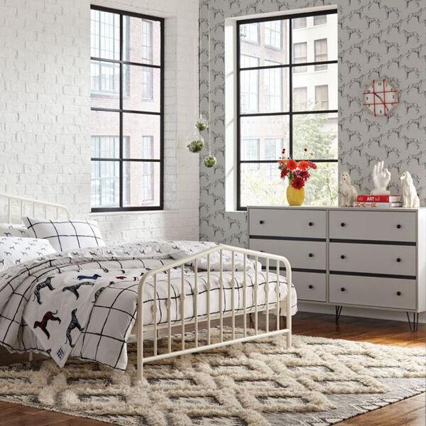 Novogratz French Grey Major Peel and Stick Wallpaper, image 5