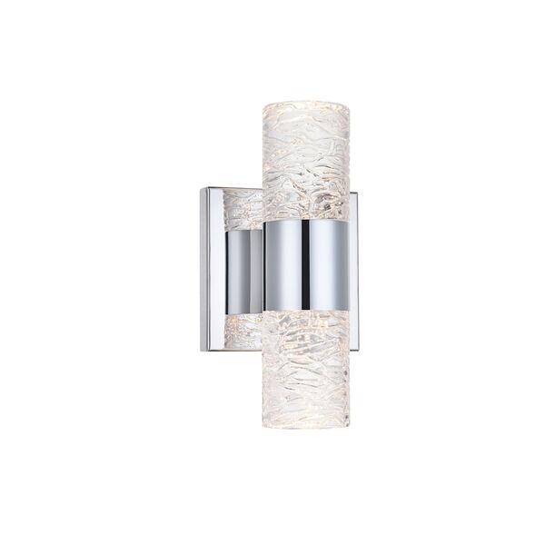 Vega Chrome Five-Inch Two-Light LED Wall Sconce, image 6