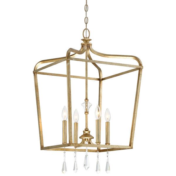Laurel Estate Brio Gold Four-Light 17-Inch Wide Pendant, image 1