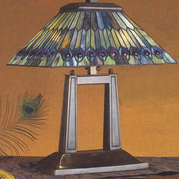 Peacock Tiffany Desk Lamp, image 1