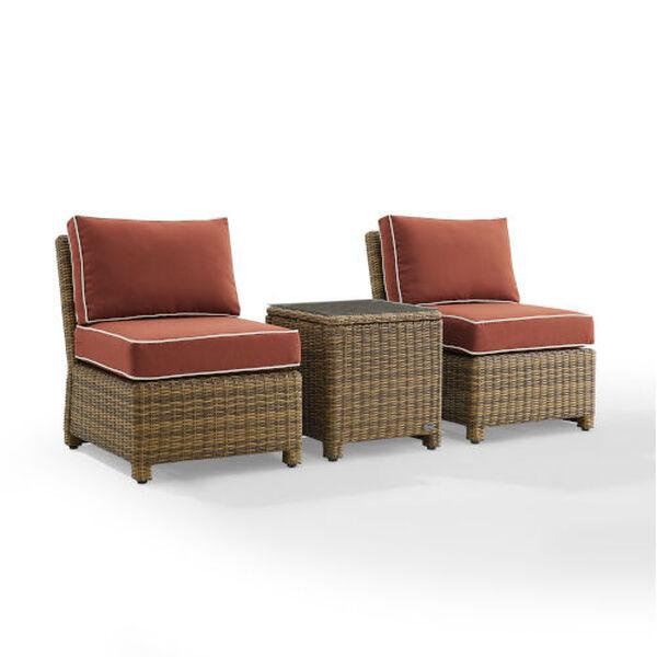 Bradenton Sangria Weathered Brown Three-Piece Outdoor Wicker Chair Set, image 6