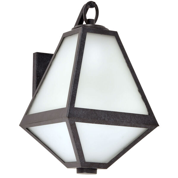 Glacier One-Light Black Charcoal Outdoor Wall Mount, image 2