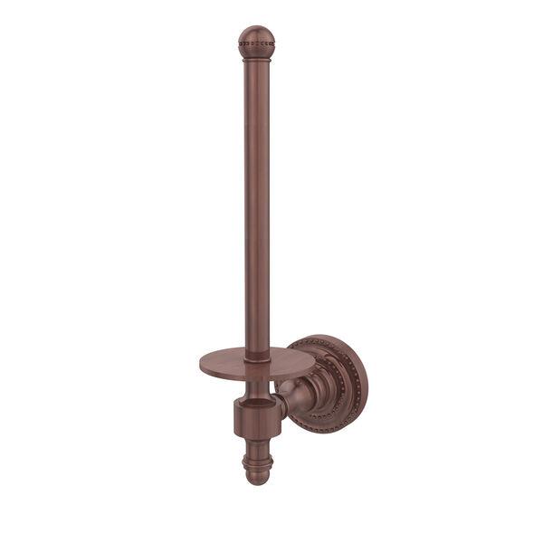 Antique Copper Upright Toilet Paper Holder, image 1