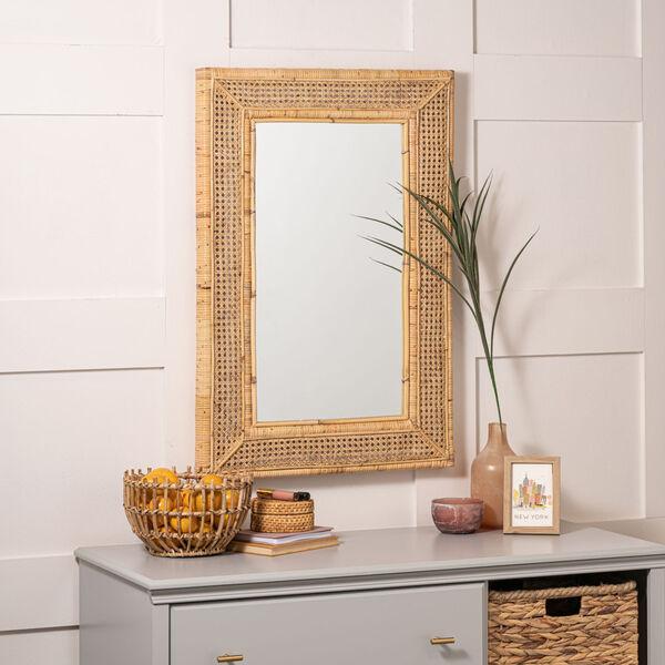Jameson Naturla Rattan 36-Inch x 24-Inch Wall Mirror, image 4