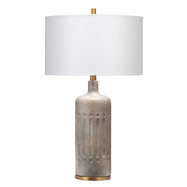 Annex Grey and Antique Brass One-Light Table Lamp, image 1