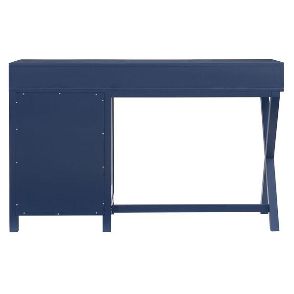 Max Navy Silver Desk, image 5