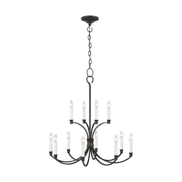 Westerly Smith Steel 29-Inch 12-Light Chandelier, image 1