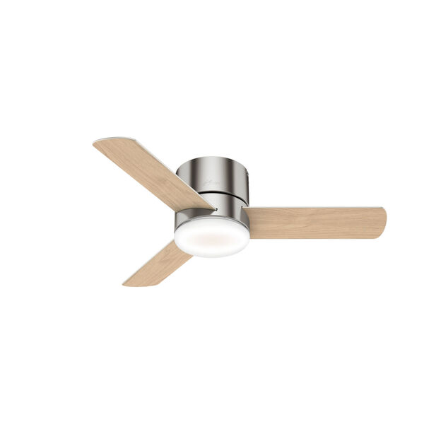 Minimus Low Profile Brushed Nickel 44-Inch LED Ceiling Fan, image 3