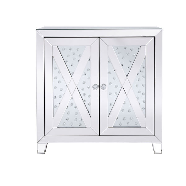 Modern Clear Crystal 28-Inch Cabinet, image 1