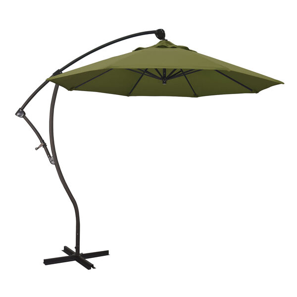 Bayside Bronze with Palm Nine-Feet Pacifica Patio Umbrella, image 1
