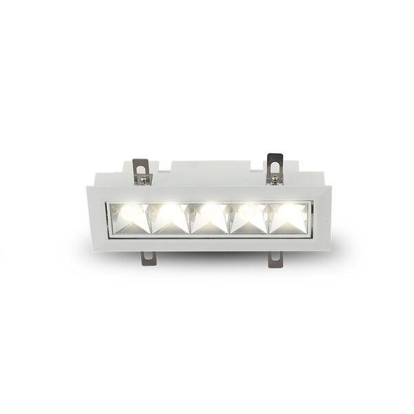 Rubik White Five-Light Adjustable LED Recessed Downlight, image 2