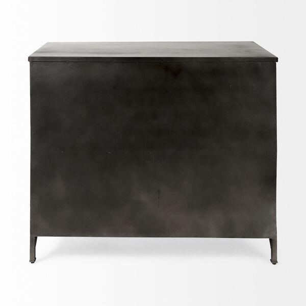 Poppy III Black Cabinet with Glass Door, image 5