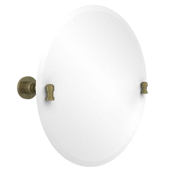 Frameless Round Tilt Mirror with Beveled Edge, image 1