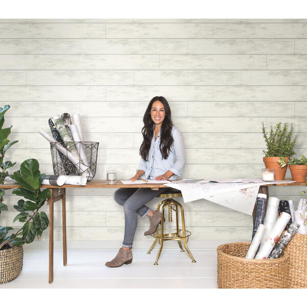 Shiplap White and Gray Removable Wallpaper, image 4