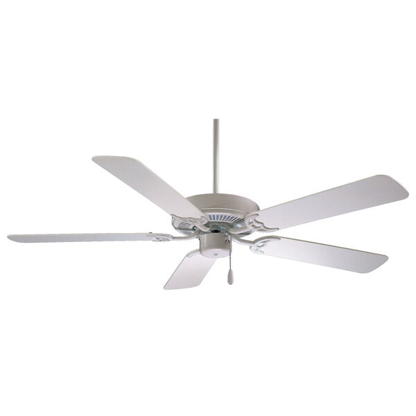 42-Inch Contractor White Ceiling Fan, image 1