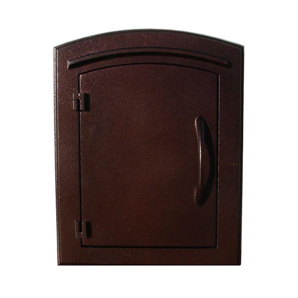 Manchester Antique Copper Non-Locking Column Mount Mailbox, image 1
