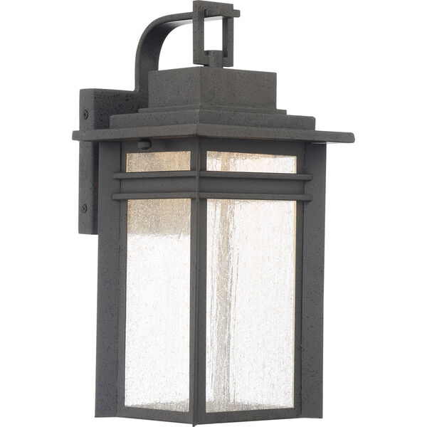 Beacon 14-Inch Stone Black LED Outdoor Wall Sconce, image 1