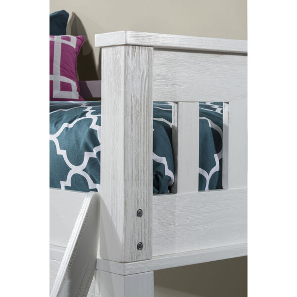 Highlands White Twin Loft Bed With Desk, image 4