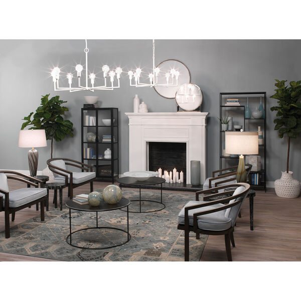 Bridgette Gray and Black Swirl Glass One-Light Table Lamp, image 2