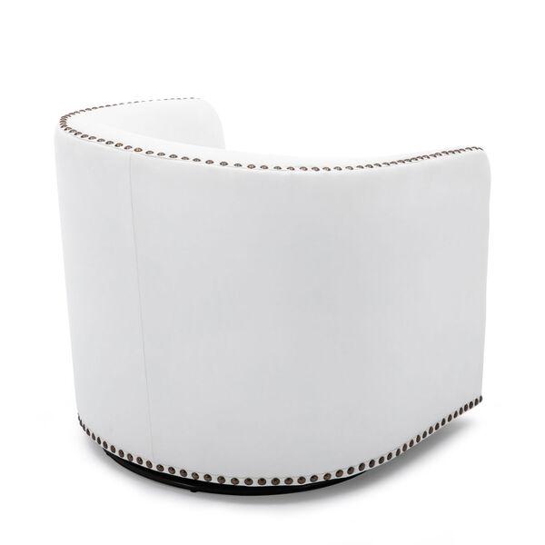Tyler Milky Swivel Arm Chair, image 5