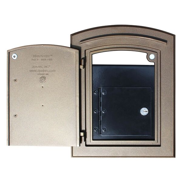Manchester Black Security Option with Decorative Scroll Door Manchester Faceplate - (Open Box), image 4